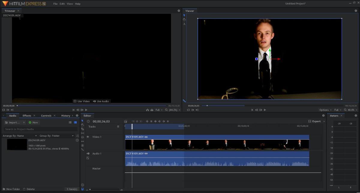 Kostenlose Schnittprogramme - Screenhsot von HitFilm Express