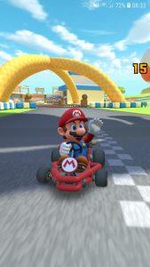 Mario in Mario Kart Tour